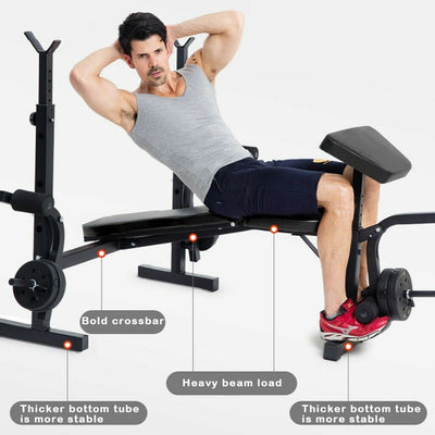 Bench Press with Flys/Leg/Curl Attachments