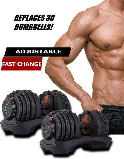 adjustable dumbbells 52.5 lbs