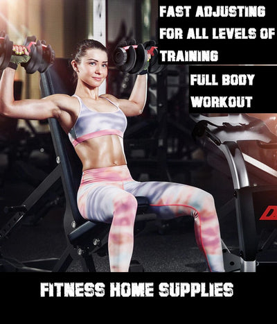 adjustable dumbbells girl