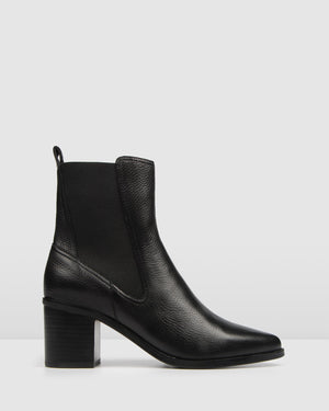 ACE MID ANKLE BOOTS BLACK LEATHER