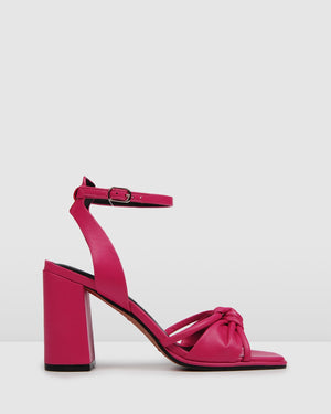 ADIA HIGH SANDALS HOT PINK LEATHER
