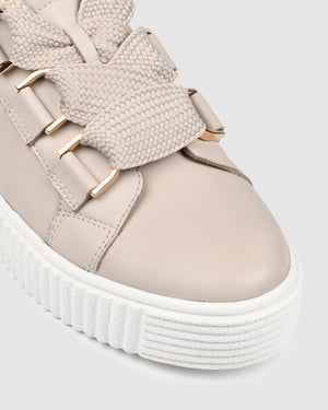 ALASKA SNEAKERS BONE LEATHER