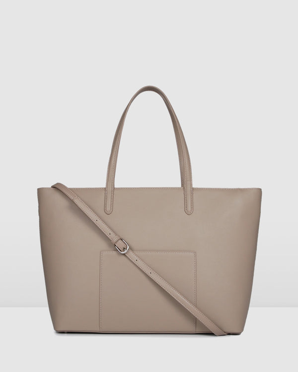 ALBION TOTE BAG BEIGE LEATHER