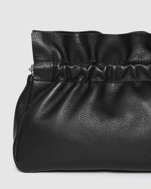 ASHER CROSS BODY BAG BLACK LEATHER