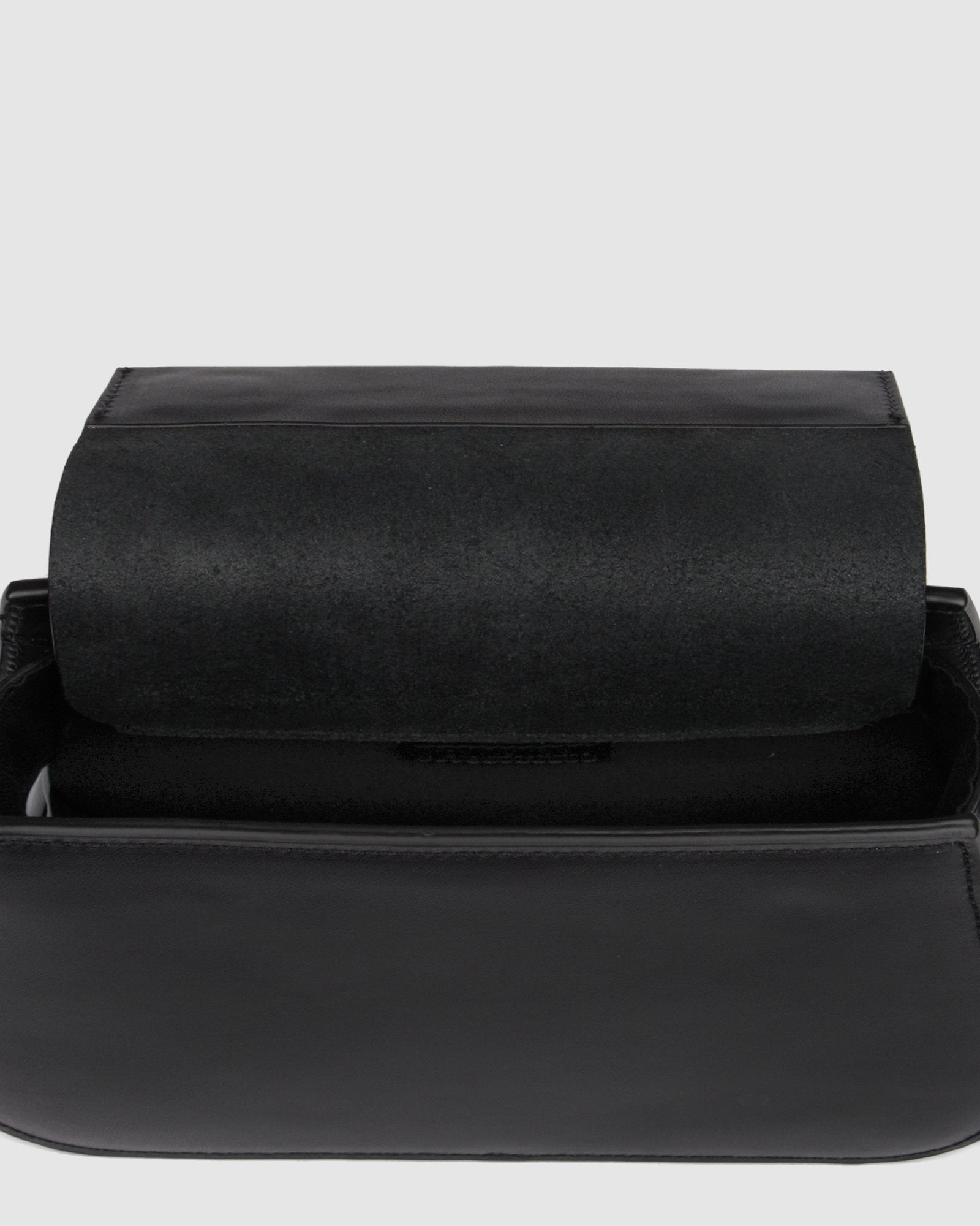 AUBREY CROSS BODY BAG BLACK LEATHER