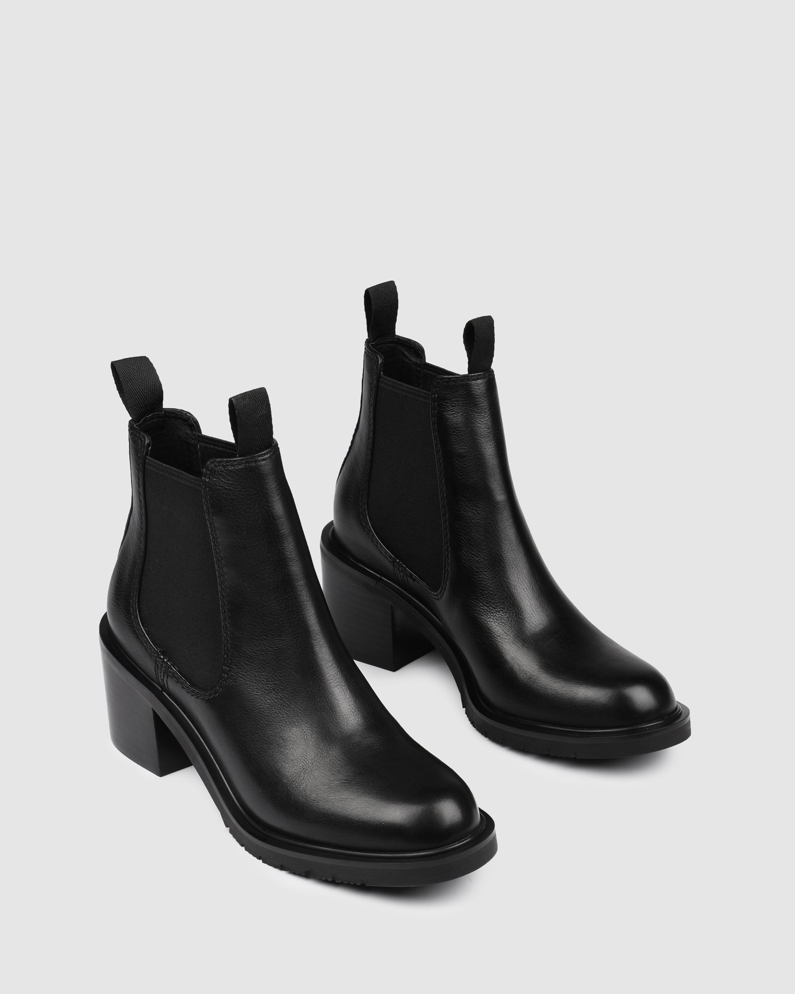 AYLA MID ANKLE BOOTS BLACK LEATHER