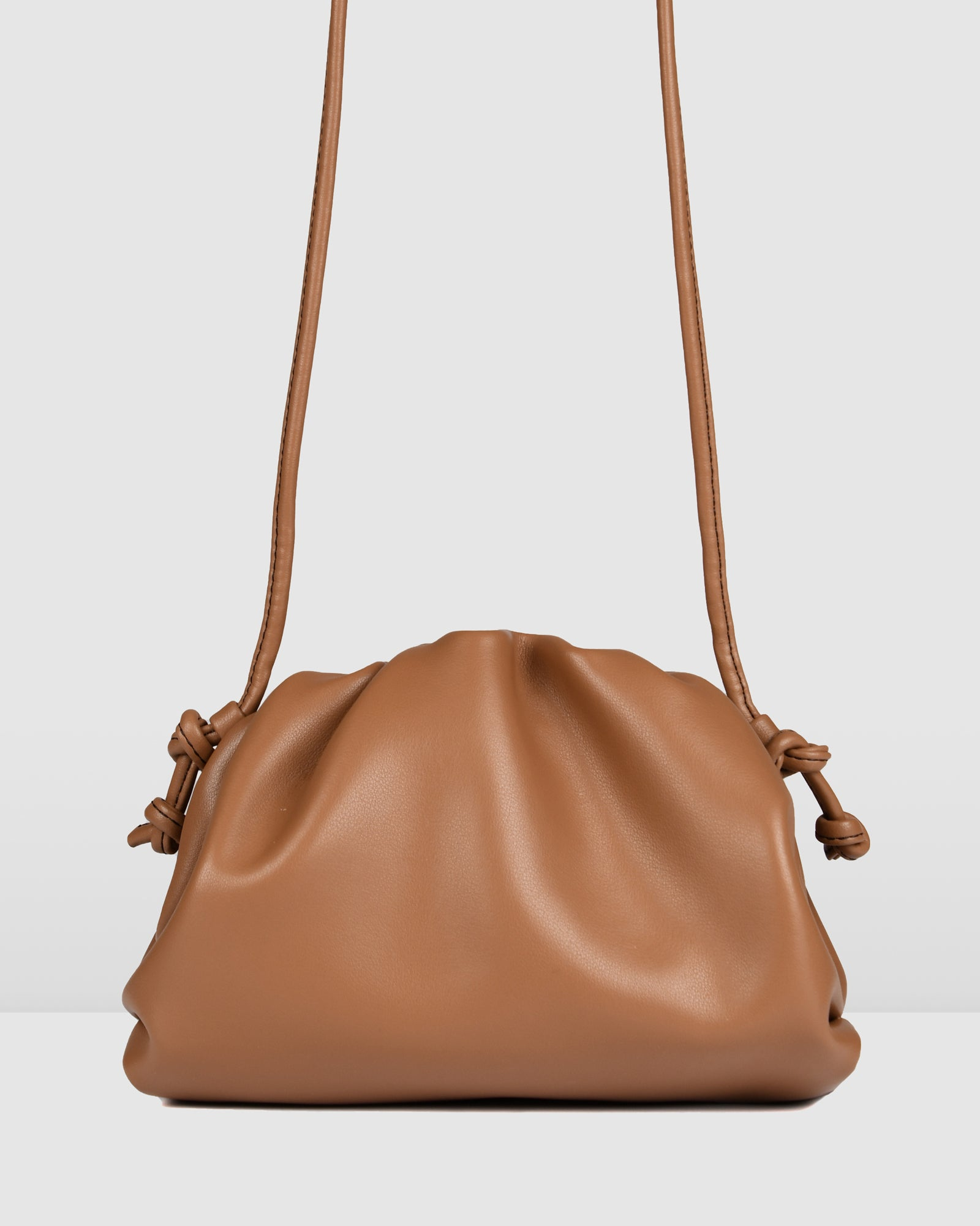 BAMBIE CROSS BODY BAG TAN LEATHER