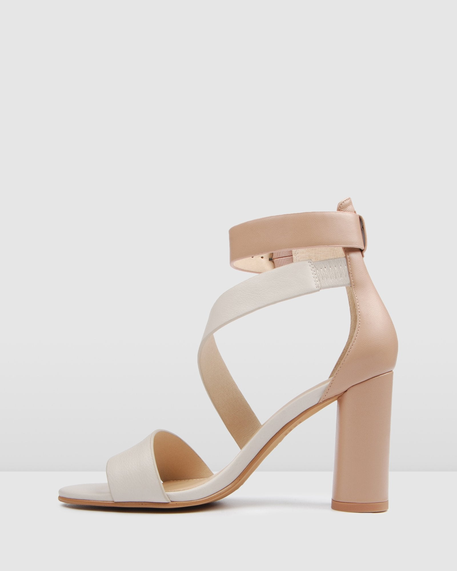 BECKETT HIGH HEEL SANDALS BLUSH MULTI