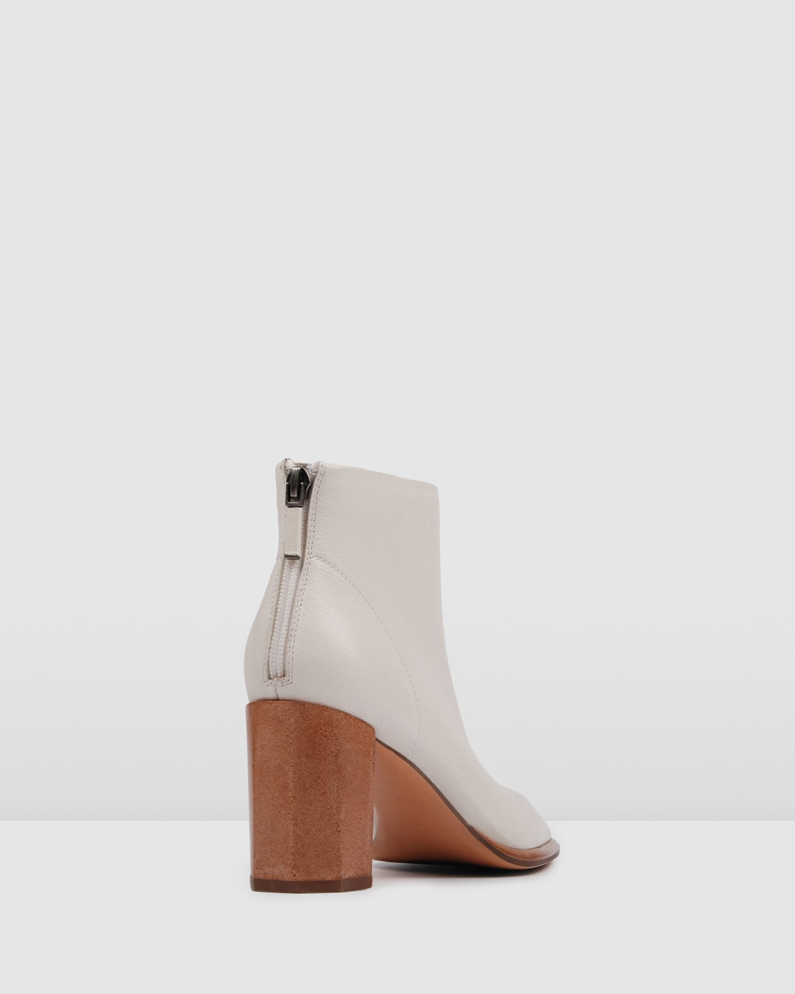BERLIN MID ANKLE BOOTS BONE LEATHER