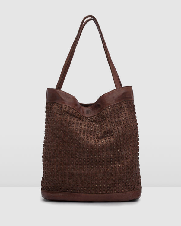 BIBA BALTIC TOTE BAG TAN LEATHER