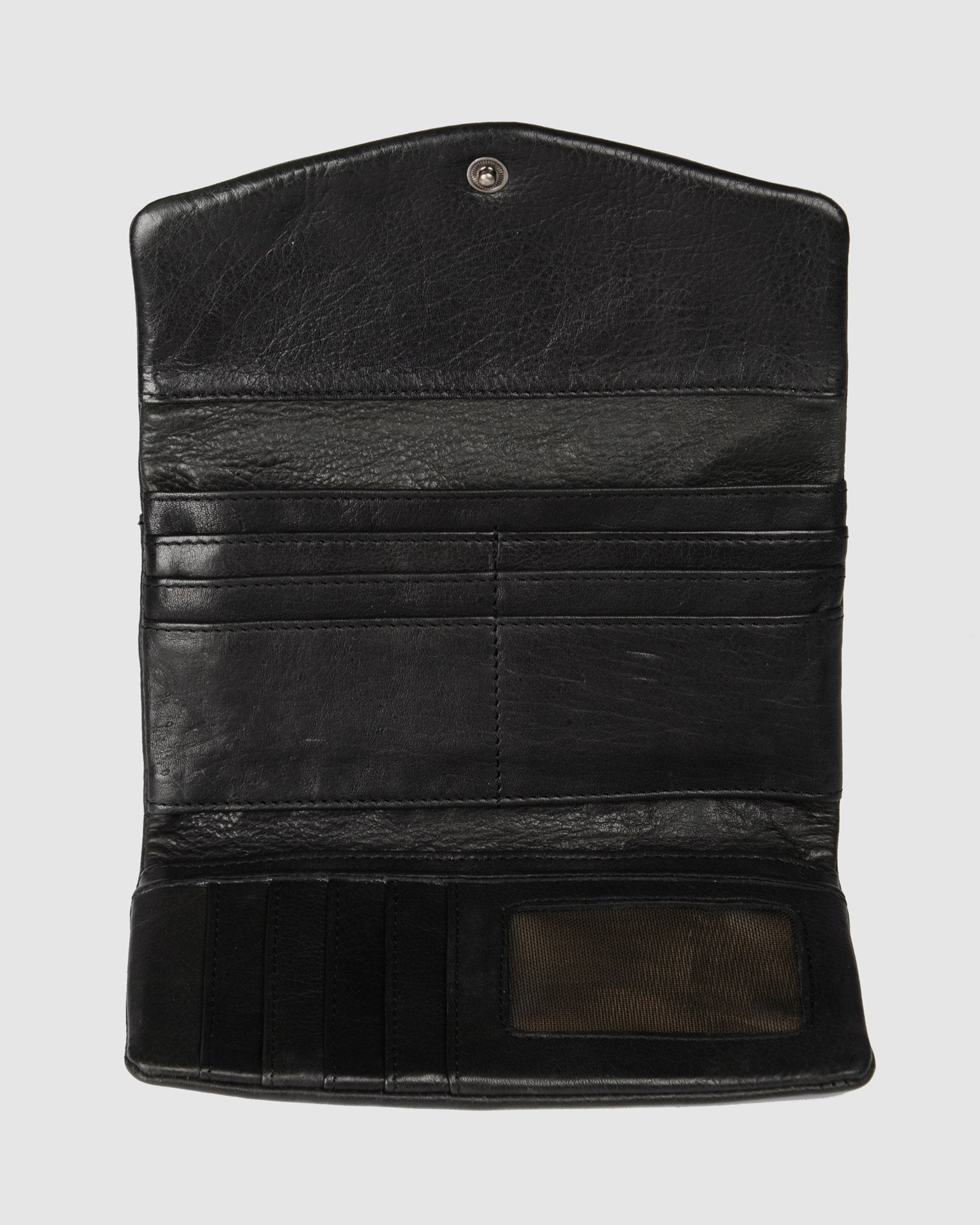 BIBA JERSEY SUMMER WALLET BLACK LEATHER