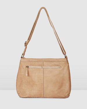 BIBA KANSAS MEDIUM CROSS BODY BAG TAUPE LEATHER