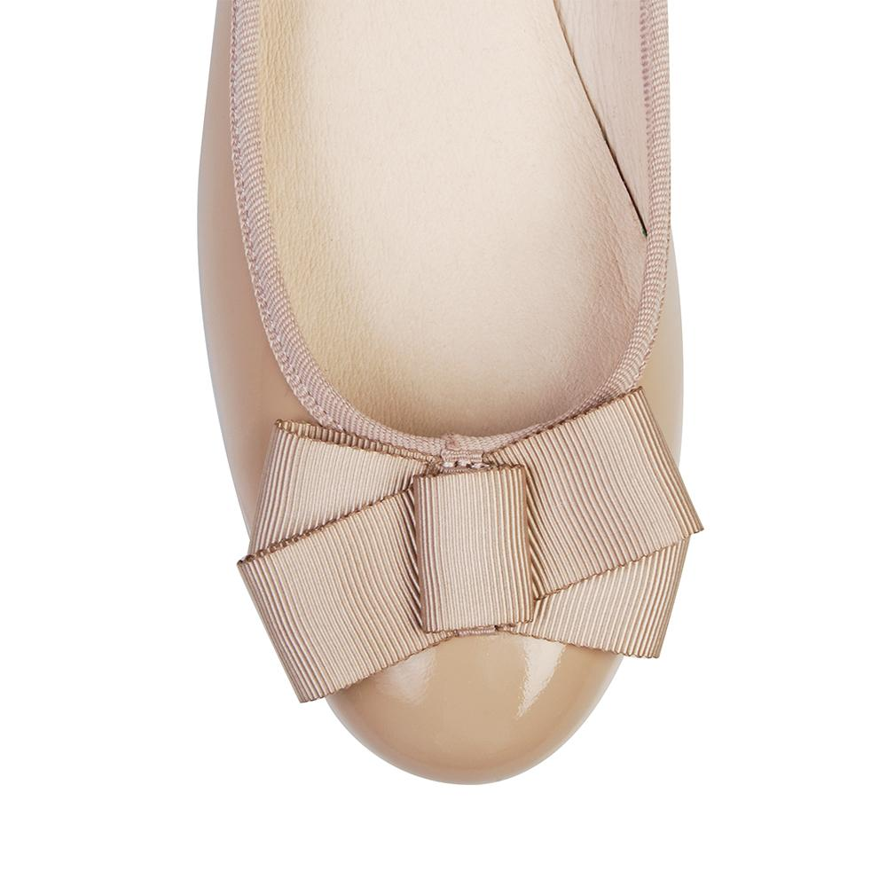 BRILLIANT BALLET FLATS LIGHT BEIGE PATENT