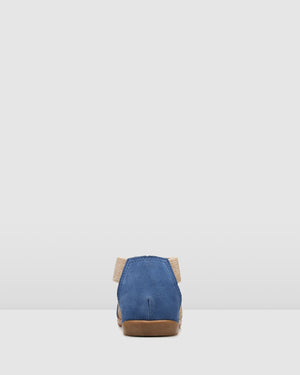 BIO BROOKE FLAT SANDALS BLUE SUEDE