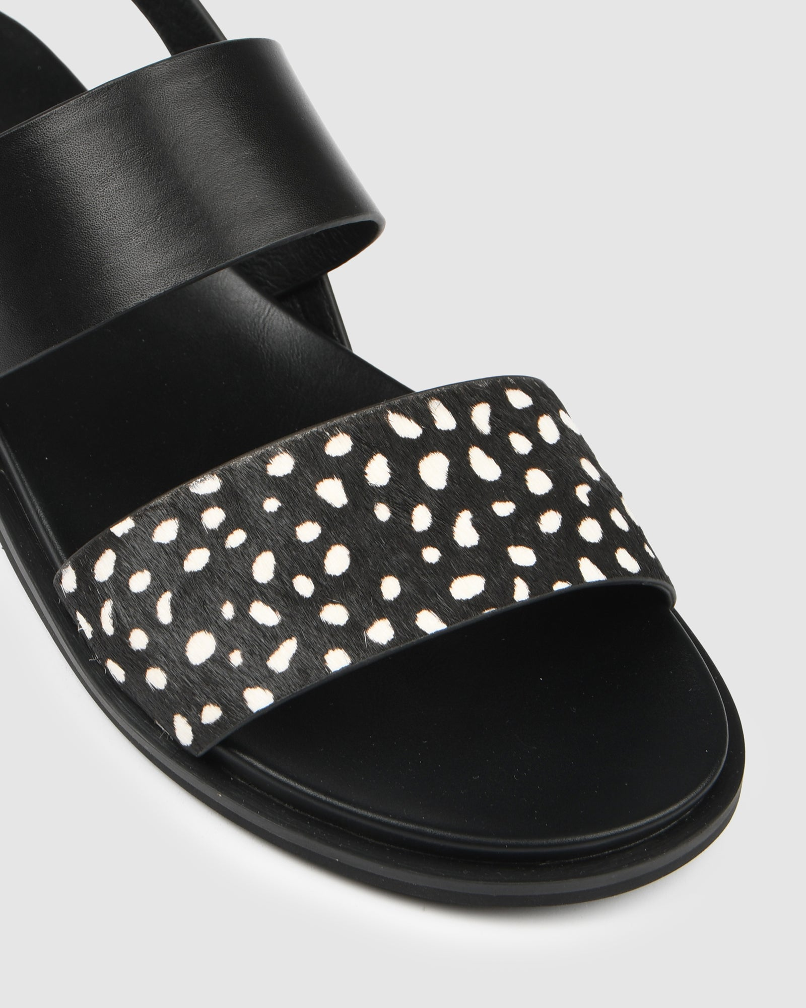 BRYDIE FLAT SANDALS BLACK MULTI