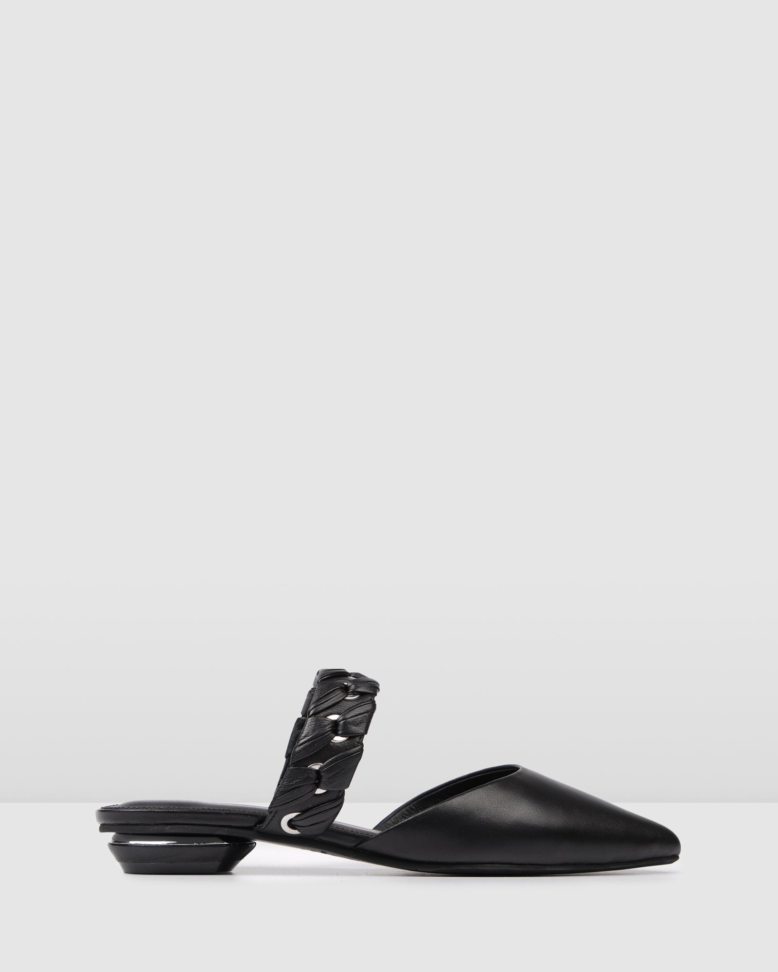 CADENCE DRESS FLATS BLACK LEATHER
