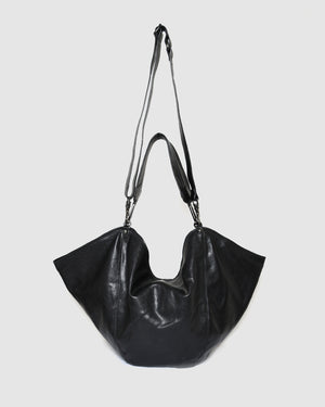 CAMPOMAGGI ATHENA SHOULDER BAG BLACK LEATHER