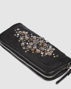 CAMPOMAGGI BELLA MEZZANOTTE WALLET BLACK LEATHER