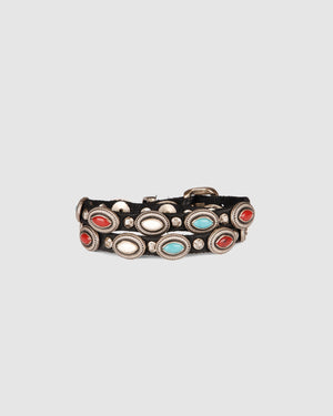 CAMPOMAGGI EDISON BRACELET BLACK LEATHER