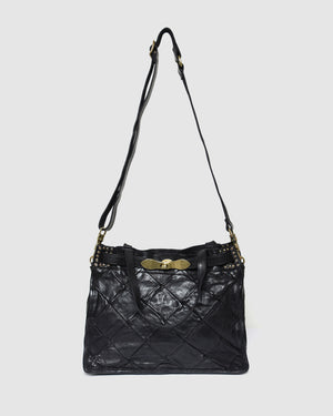 CAMPOMAGGI MUSEO TOTE BAG BLACK LEATHER