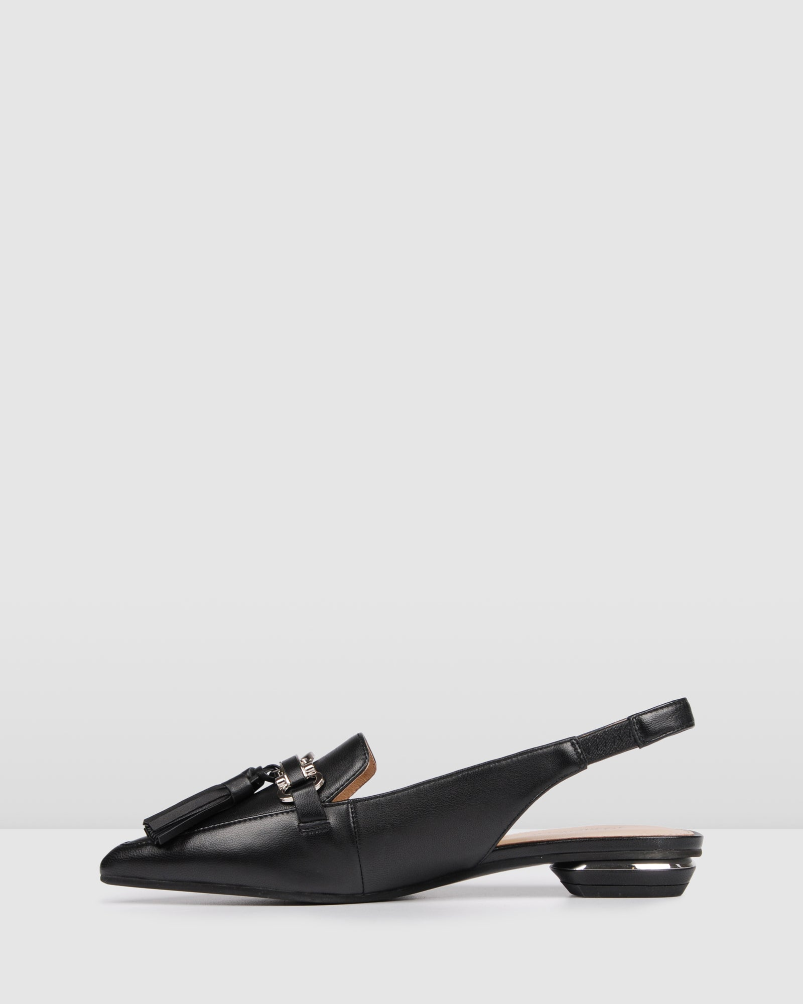 CLARITY DRESS FLATS BLACK LEATHER