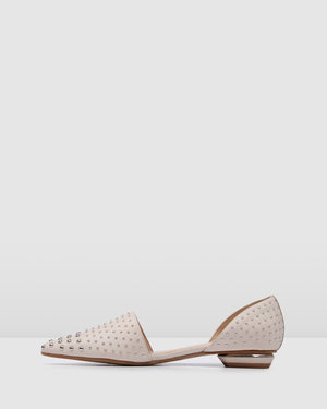 CORSICA DRESS FLATS BONE LEATHER