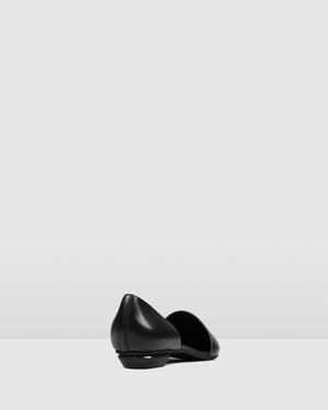 COSTA DRESS FLATS BLACK LEATHER