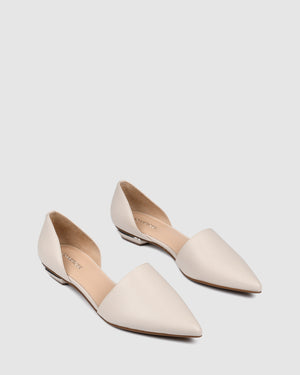 COSTA DRESS FLATS BONE LEATHER