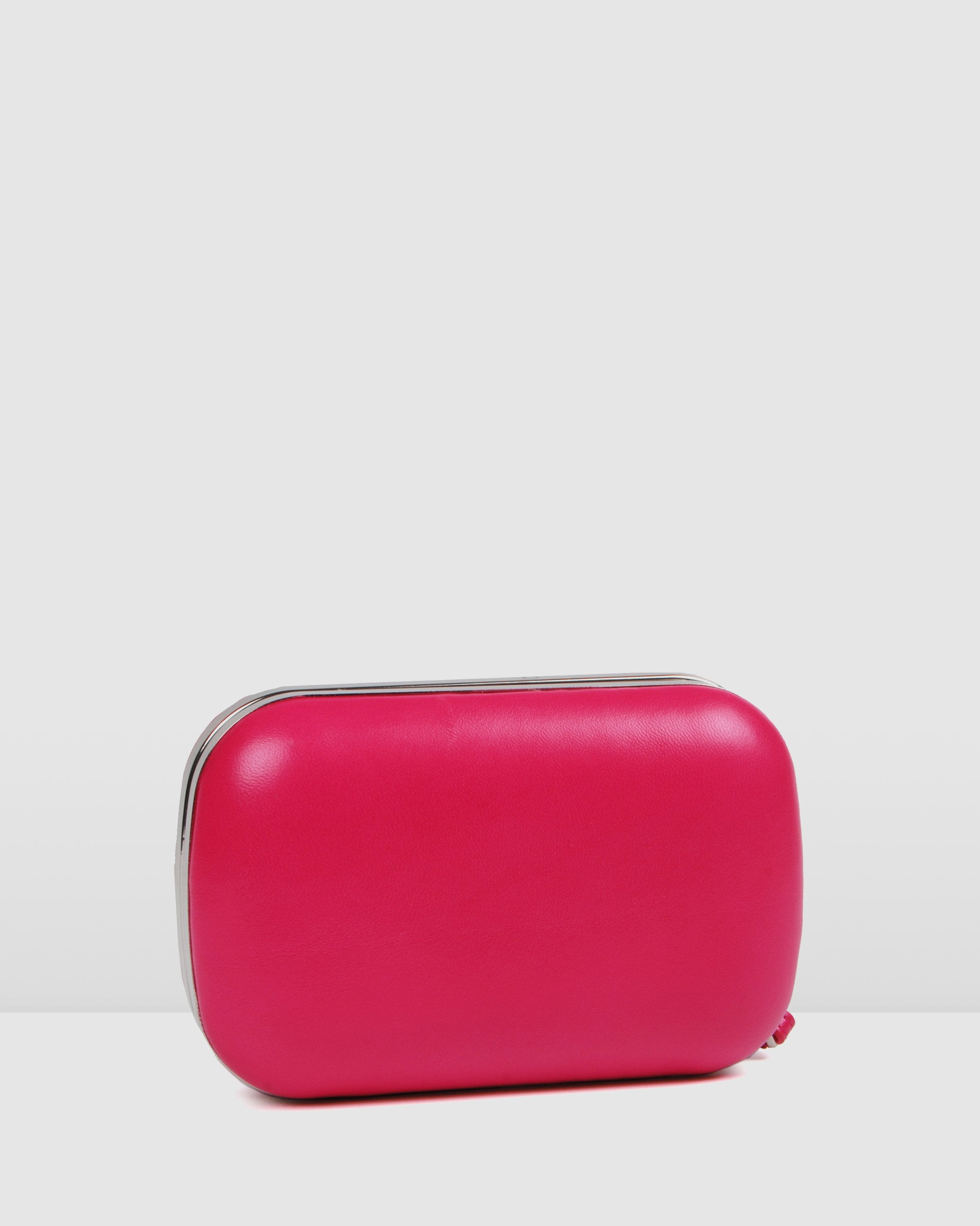 DAZZLE CLUTCH HOT PINK LEATHER