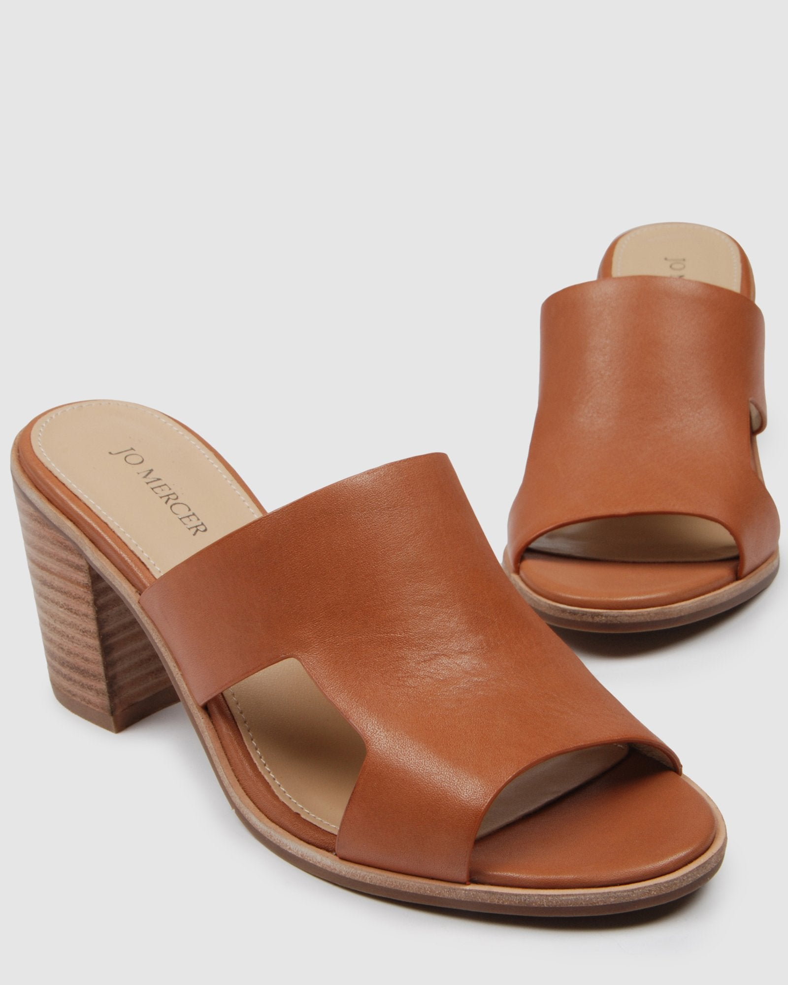 DELILAH MID SANDALS COGNAC LEATHER COGNAC LEATHER