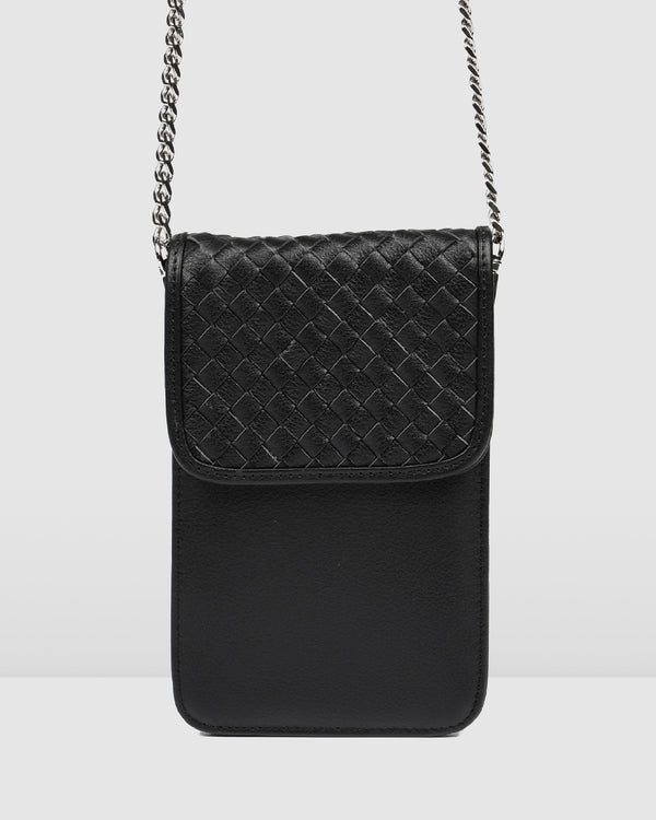DEMI CROSS BODY BAG BLACK LEATHER