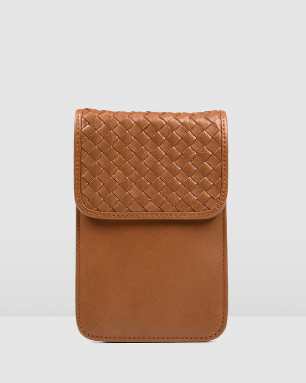 DEMI CROSS BODY BAG TAN LEATHER