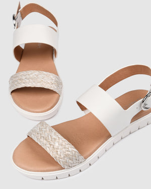 ENCORE FLAT SANDALS WHITE MULTI