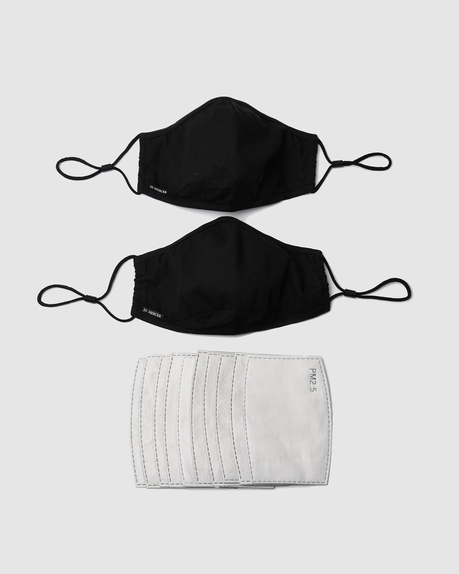 FACE MASKS TWO PACK BLACK