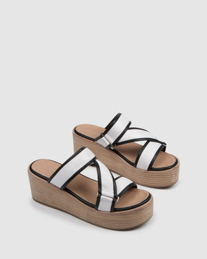 FARROW MID SANDALS WHITE LEATHER
