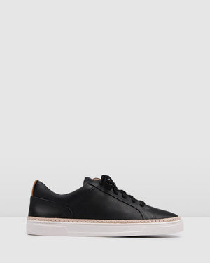 FAWKNER SNEAKERS BLACK LEATHER