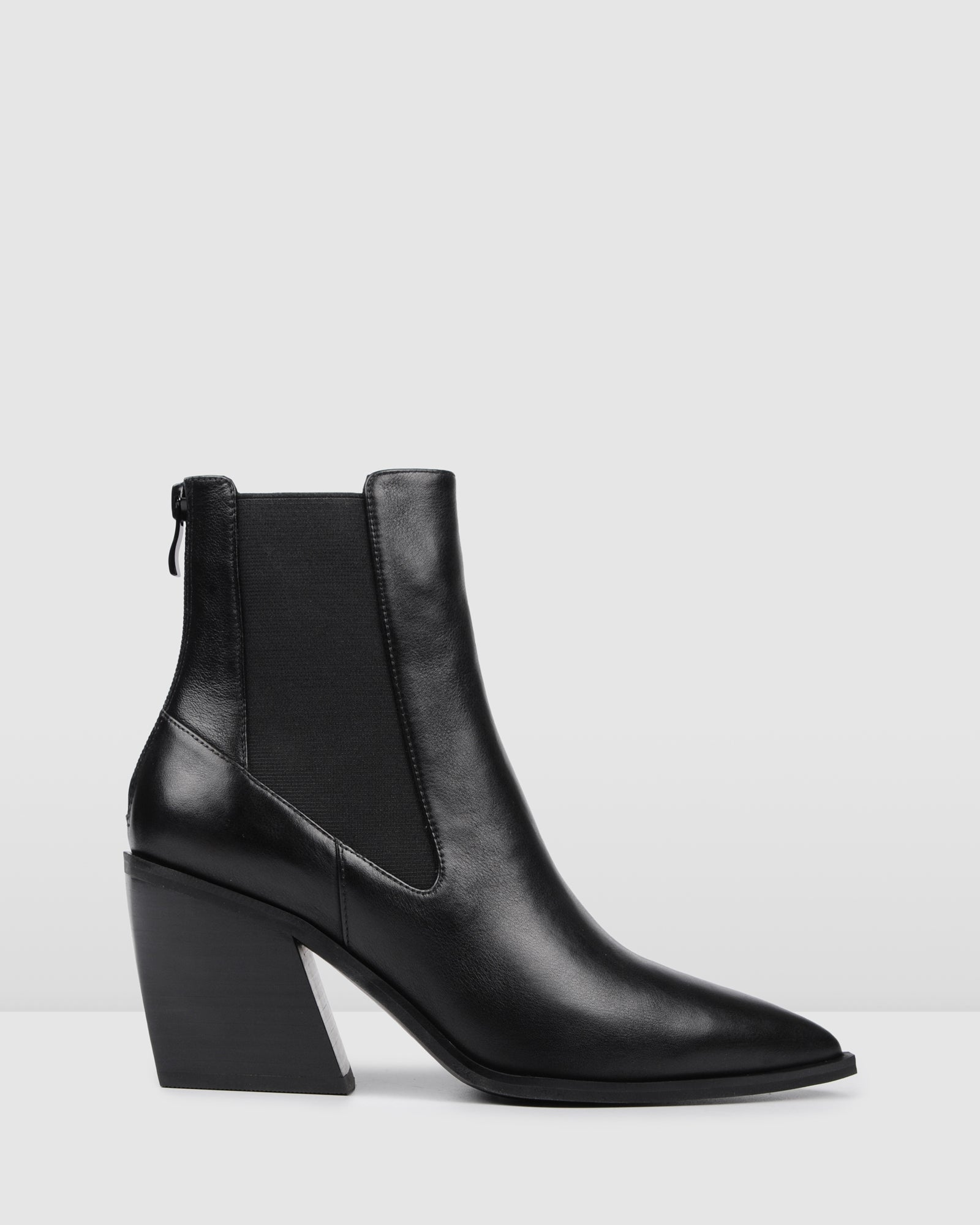 FEIST MID ANKLE BOOTS BLACK LEATHER