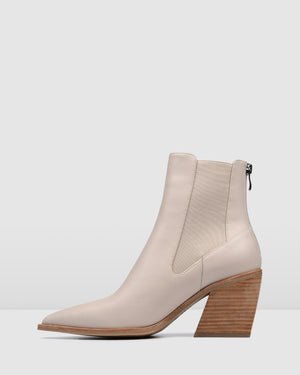 FEIST MID ANKLE BOOTS BONE LEATHER