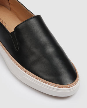 FIDEL CASUAL SNEAKERS BLACK LEATHER