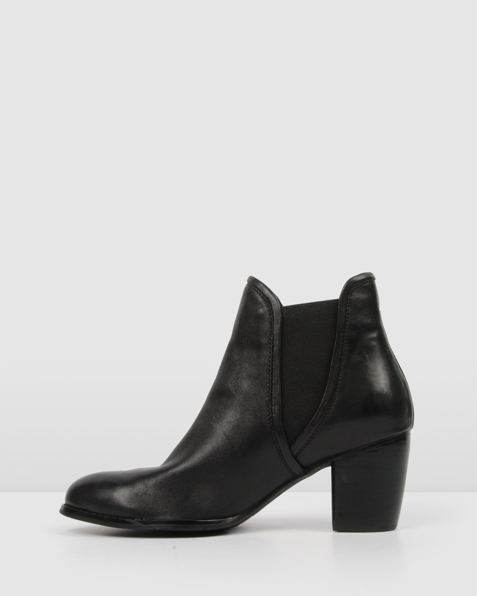 FIERCE MID ANKLE BOOTS BLACK LEATHER