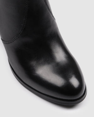 FIRENZE MID ANKLE BOOTS BLACK LEATHER