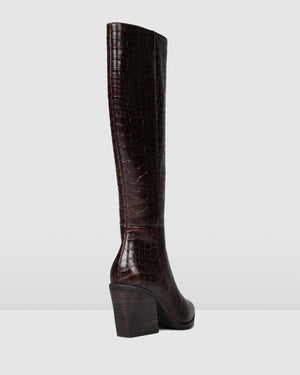 FITZROY KNEE BOOTS BROWN CROC