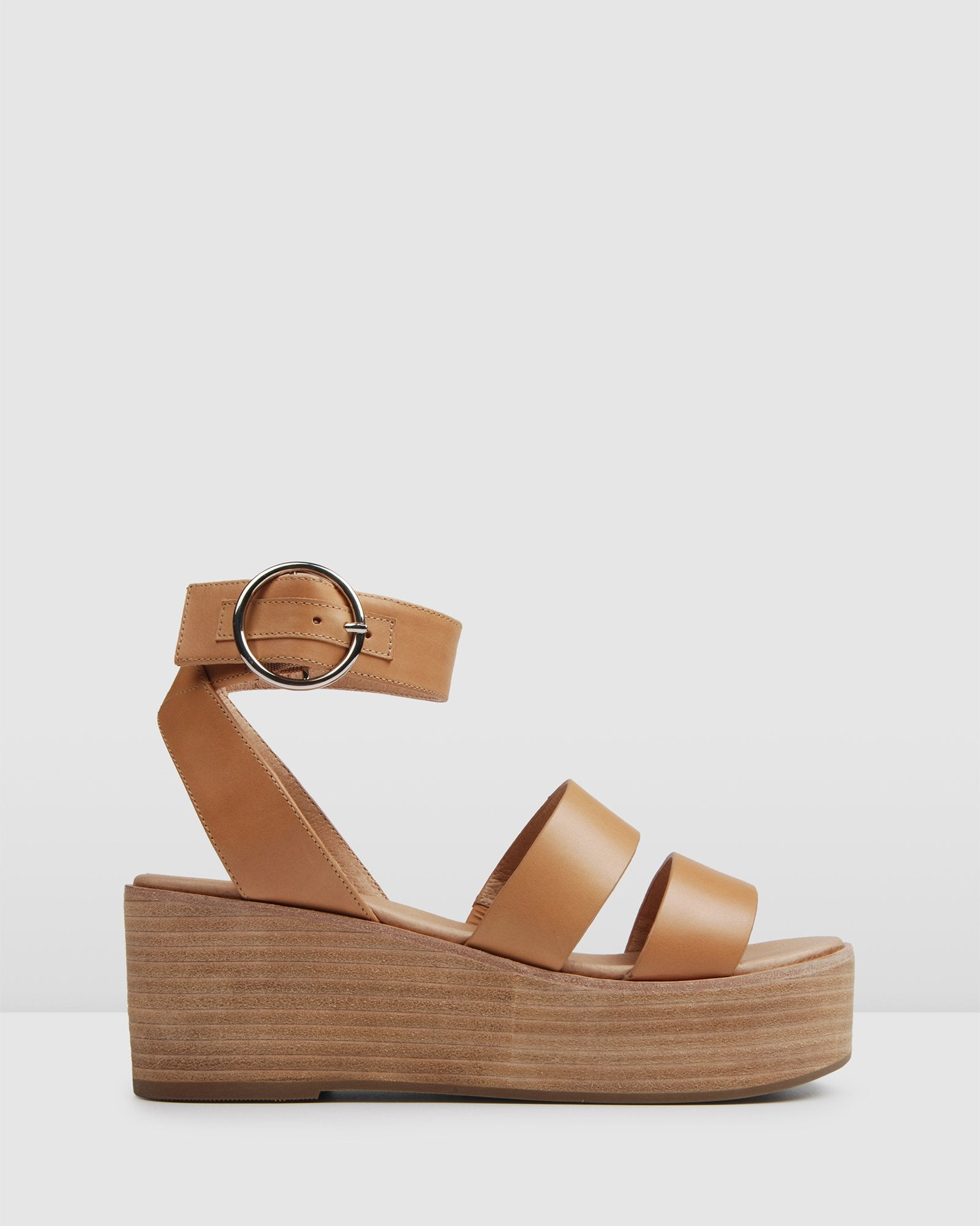 FLEET MID SANDALS TAN LEATHER