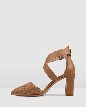 GILDA HIGH HEELS TAN LEATHER