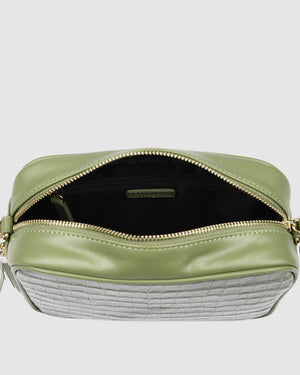 HARTLEY CROSS BODY BAG SAGE CROC
