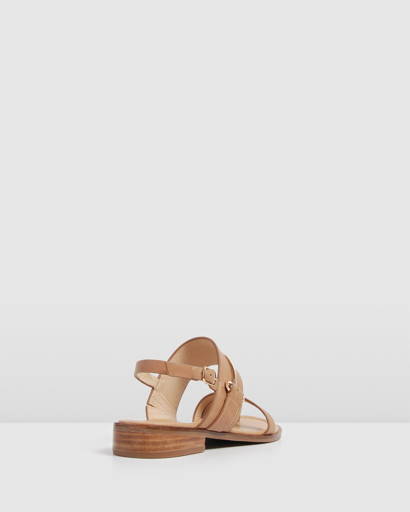 HAVEN FLAT SANDALS NATURAL LEATHER