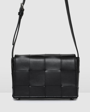 HONEY CROSS BODY BAG BLACK LEATHER