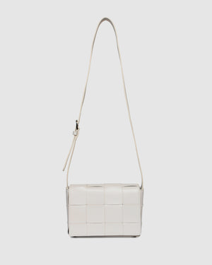 HONEY CROSS BODY BAG BONE LEATHER