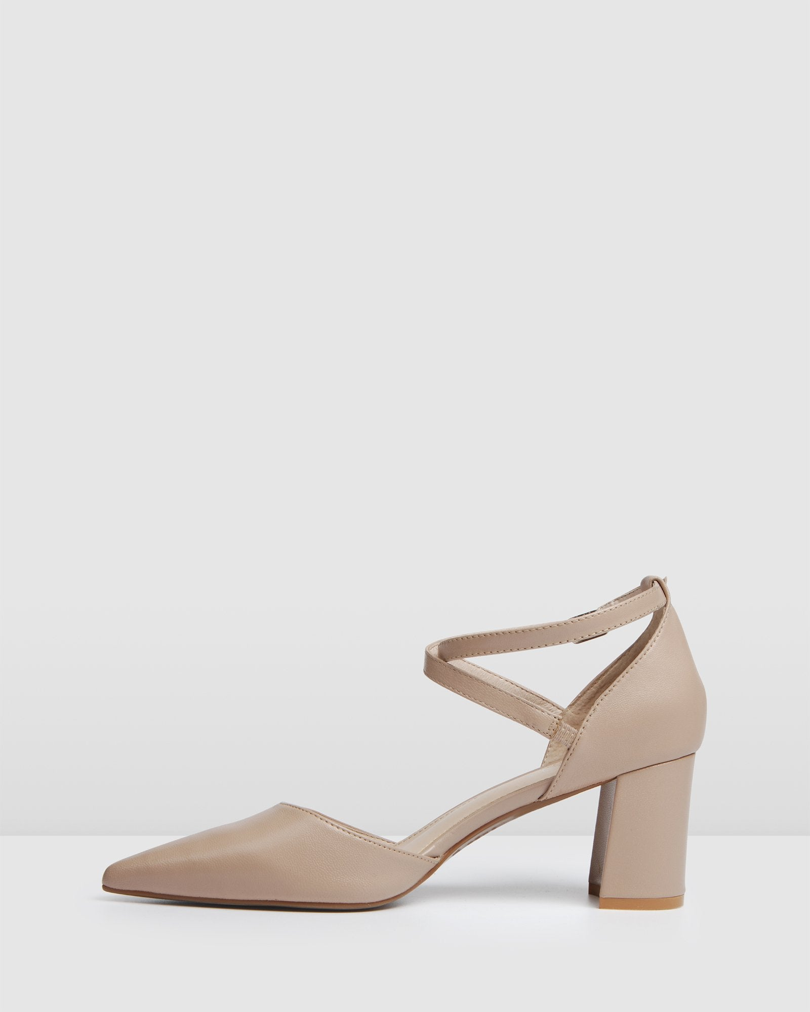 ILUKA MID HEELS LIGHT BEIGE LEATHER