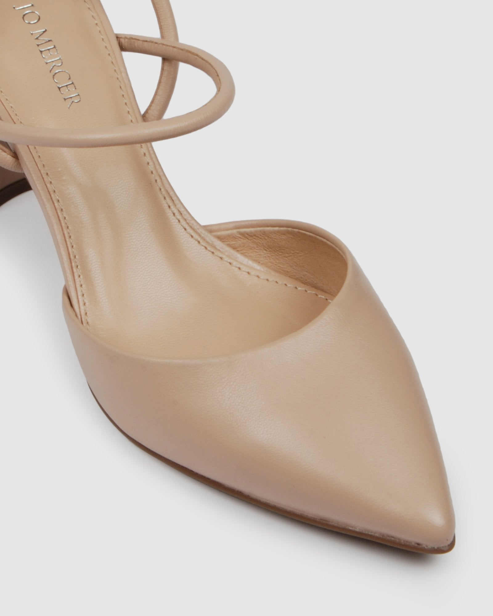ISSA MID HEELS BEIGE LEATHER